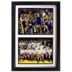 LA Lakers 2009 NBA Champions Collectible Sports Prints in Custom Frame (12