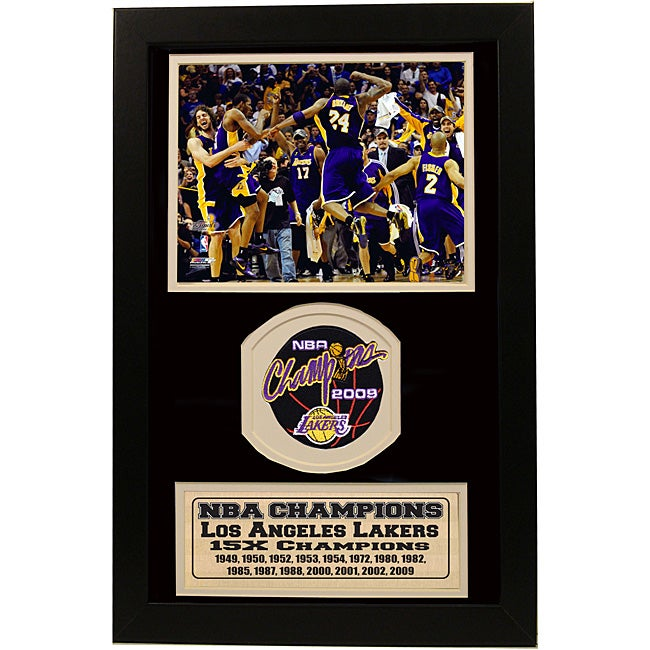 "LA Lakers 2009 NBA Champions 12"" x 18"" Basketball Sports Print/Patch"