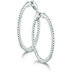 14k Gold 1/2ct TDW Diamond Hoop Earrings (H-I, I1)