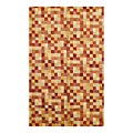 Indo Contemporary Hand-Knotted Multi Wool Rug (5' x 8')
