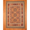 Indo Kilim Burgundy/ Ivory Rug (5&#39;7 x 7&#39;9)