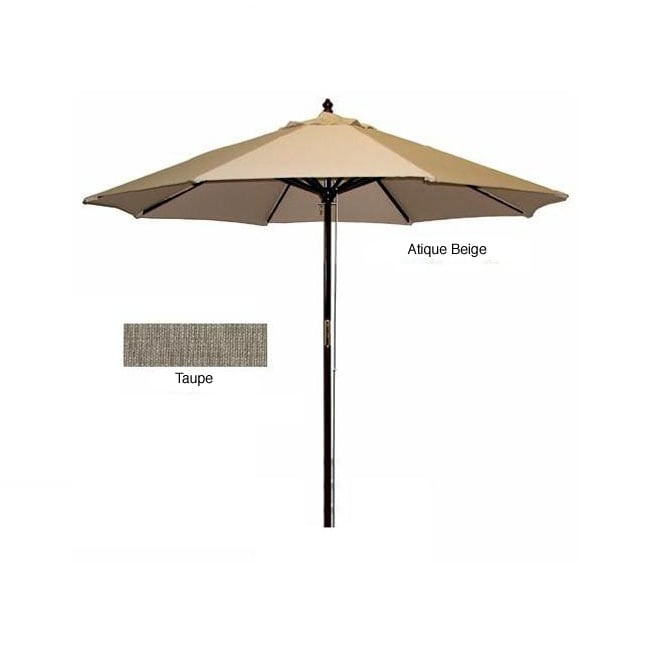 Hard Wood Taupe/ Antique Beige Patio Umbrella