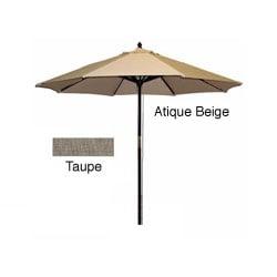 Hard Wood Taupe/ Antique Beige Patio Umbrella