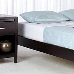 Tapered-Leg California King-Size Mahogany Platform Bed