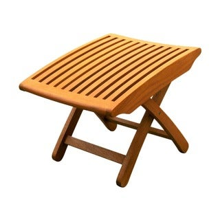 International Caravan Royal Tahiti Yellow Balau Wood Folding Footrest