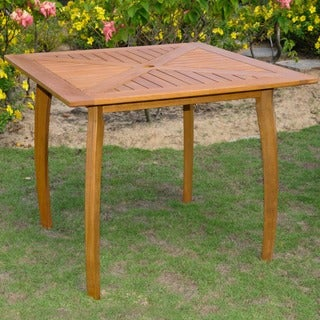 International Caravan Royal Tahiti Yellow Balau Wood 36-inch Square Table