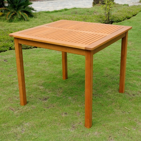 International Caravan Royal Tahiti Yellow Balau Wood 32-inch Square Table