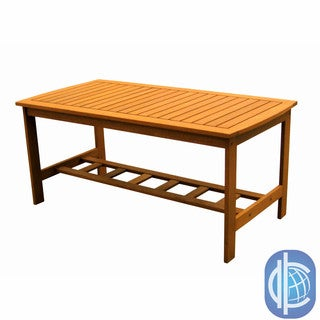 International Caravan Royal Tahiti Yellow Balau Wood Gulf Port Rectangular Coffee Table