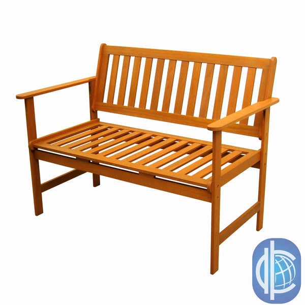 International Caravan Royal Tahiti Yellow Balau Wood Gulf Port Arm Bench