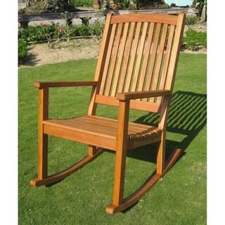 International Caravan Royal Tahiti Yellow Balau Wood KD Large Rocking Chair
