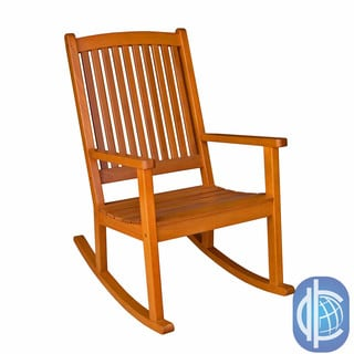 International Caravan Royal Tahiti Yellow Balau Wood KD Large Rocking Chair