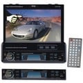 Pyle PLTS77DU Single-DIN DVD/CD/MP3 AM/FM USB Receiver w/ Detachable Face, Motorized Touchscreen & Remote Control