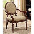 Roll Arm Chair Taupe Leaf