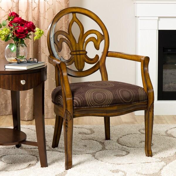 Fleur de Lis Chocolate Chair