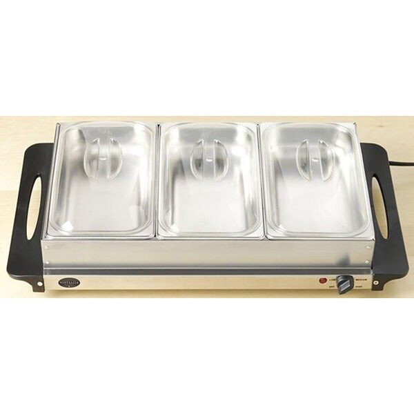 Nostalgia Electrics BCD-992 3-section Steel Warming Tray