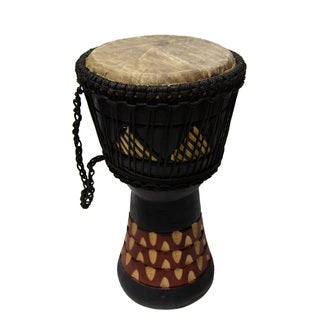 Hand-finished Djembe Power Drum (Ghana)