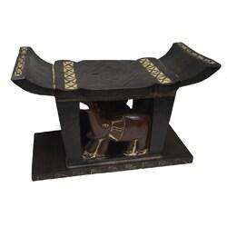 Sese Wood Ashanti Handcrafted 'Osono' Stool (Ghana)