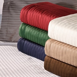 Egyptian Cotton 400 Thread Count Striped 3-piece Duvet Cover Set