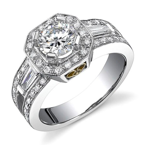 18k White Gold 1 5/8ct TDW Diamond Engagement Ring (I, I1)