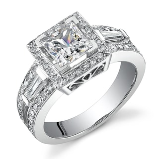 18k Gold 1 5/8ct TDW Diamond Engagement Halo Ring (I,  I1)