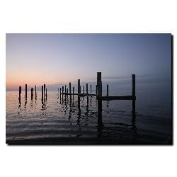 Cary Hahn 'Pier' Canvas Art
