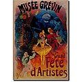 Jules Cheret 'Musee Grevin' Gallery-wrapped Canvas