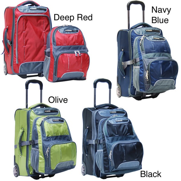CalPak Fushion Dual-use 20-inch Carry-on Detachable Rolling Backpack