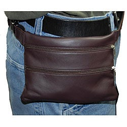 Castello Romano Front-zip Slim Waist Pouch with Adjustable Strap