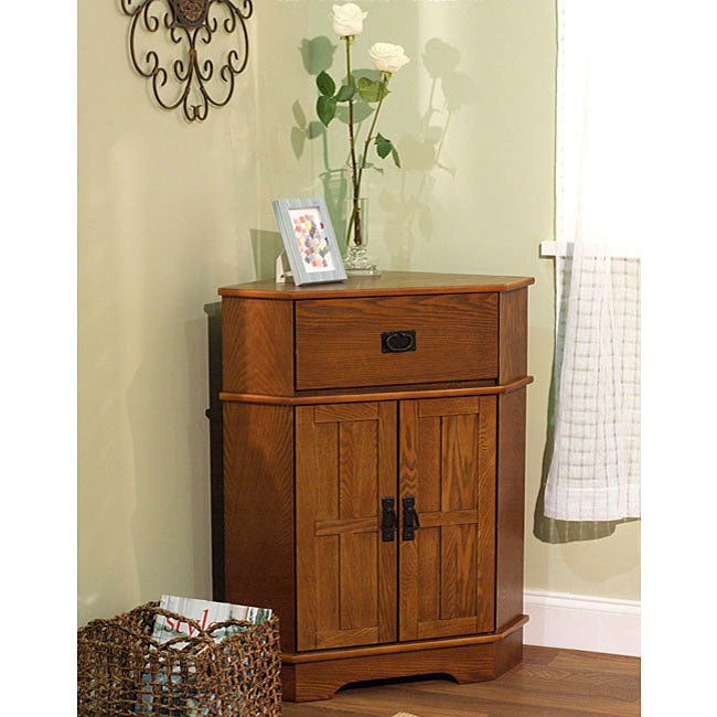 Simple Living Mission Corner Cabinet 12108652