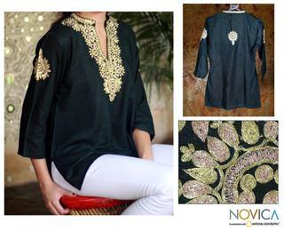 Cotton 'Mughal Enchantment' Tunic (India)