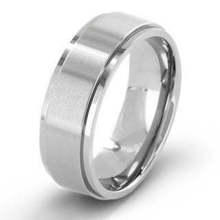 Crucible Men's Brushed 7mm Titanium Comfort-fit Wedding Band