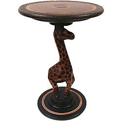 Handmade Giraffe Accent Table (Ghana)