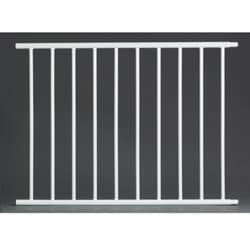 Walk-through White Steel 24-inch Extension for the Mini Pet Gate