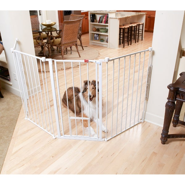 Carlson Extra Tall Flexi Pet Gate 12108649 Overstock
