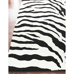 nuLOOM Zebra Animal Print Black/ Off White Rug (5'3 X 7'9)