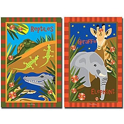 Grace Riley 'Animal Friends' 2-piece Canvas Art Set