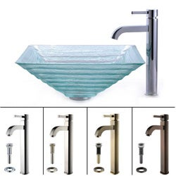 Kraus Alexandrite Sink and Ramus Bathroom Faucet