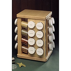 Sale j k adams 32 bottle spice carousel avcxgrbxds for Carousel spice racks for kitchen cabinets