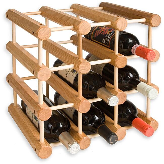 J.K. Adams 12-bottle Oak Wine Rack