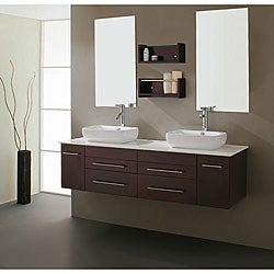 Virtu USA Augustine 60-inch Double Sink Bathroom Vanity Set