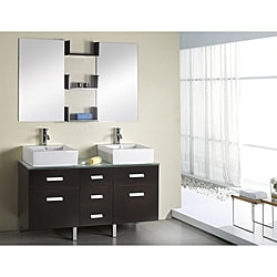 Virtu USA Maybell 56-inch Double Sink Bathroom Vanity Set