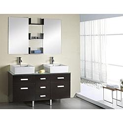 Virtu USA Maybell 56-inch Double Sink Bathroom Vanity Set