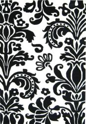 Alliyah Handmade Black New Zealand Blend Wool Rug(6' Round)