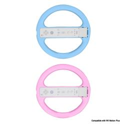 Steering Wheel (Compatible with Motion Plus) Pink and Blue for Nintendo Wii- 2 Pack