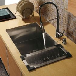 Vigo 'Farmhouse' Undermount Stainless Steel Kitchen Sink Set