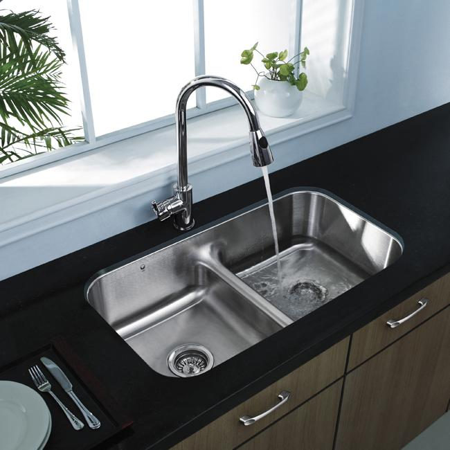 Vigo Undermount Stainless Steel Kitchen Sink and Faucet