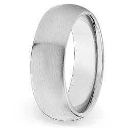 West Coast Jewelry Stainless Steel Brushed Domed Comfort Fit Ring (8 mm)