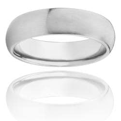 West Coast Jewelry Stainless Steel Brushed Domed Comfort Fit Ring (6 mm)
