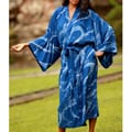 Women's 'Sea of Sapphire' Batik Robe (Indonesia)