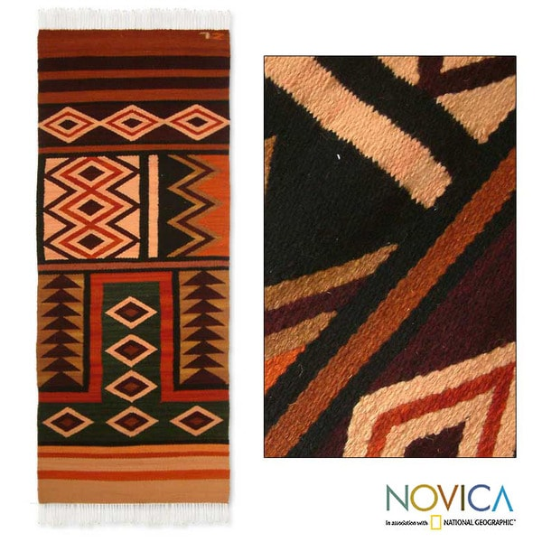 Peruvian 'Sacred Valley' Wool Runner Rug (2' X 5
